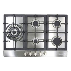 Cosmo 950SLTX-E 34-in Gas Cooktop, 5 Sealed Brass Burners including 16000 BTU Jet Nozzle Burner, ...
