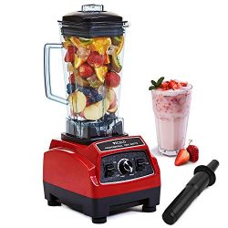 VECELO 2200 Watt Professional Countertop Blender, Total Crushing Technology with up to 45000 RPM ...