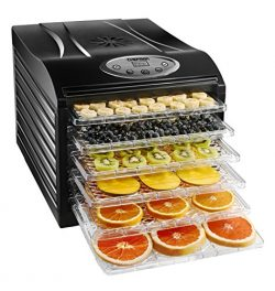Chefman Food Dehydrator Machine Professional Electric Multi-Tier Food Preserver, Meat or Beef Je ...