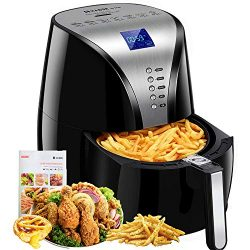Habor Air Fryer, 4Qt Oilless Hot Air Oven, 7-in-1 Electric Hot Air Cooker, 1500W Power Deep Frye ...