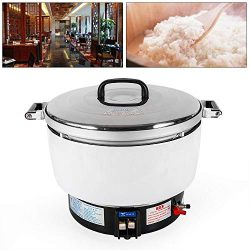 Commercial Rice Cooker, 10L Heavy Duty Electric 50 Cup Pressure Rice Cooker 2.8Kpa Gas Pressure  ...