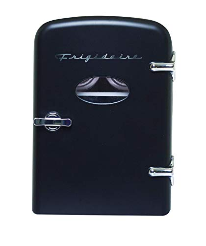 Frigidaire Retro Mini Compact Beverage Refrigerator, Great for keeping office lunch cool! (Black ...