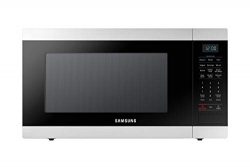 Samsung MS19M8000AS/AA Large Capacity Countertop Microwave Oven with Sensor and Ceramic Enamel I ...