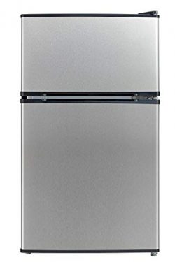 Emerson CR510BSSE 3.1-Cubic Foot Compact Double Door Refrigerator, Stainless Steel