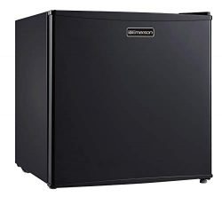 Emerson CR160BE 1.6 Cubic Foot Compact Single Door Refrigerator cu. ft, Black