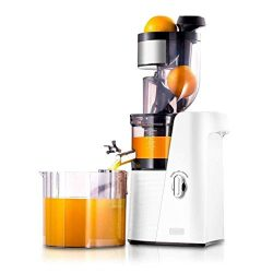 SKG Slow Masticating Juicer Cold Press 36 RPM Quiet High Yield Anti-Oxidation, Big Mouth Fruit V ...