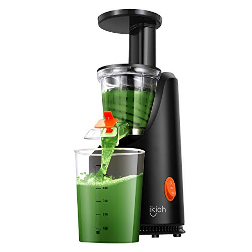 IKICH Slow Juicer, 64RPM Golden Ratio Speed Slow Masticating Juicer with 200W Quiet Efficient Mo ...