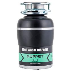 Garbage Disposals KUPPET 1/2 HP Food Waste Disposer with Power Cord 1700 RPM Continuous Feed Sup ...