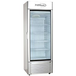 Premium PRF125DX 12.5 cu. ft. Single Door Merchandiser Refrigerator, Gray
