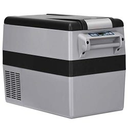 COSTWAY Compressor Refrigerator Freezer, 44 Quart Car Travel Refrigerator Freezer Portable and C ...