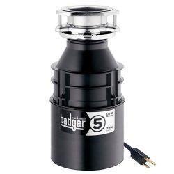 InSinkErator Badger 5 Garbage Disposal with Power Cord, 1/2 HP (Renewed)