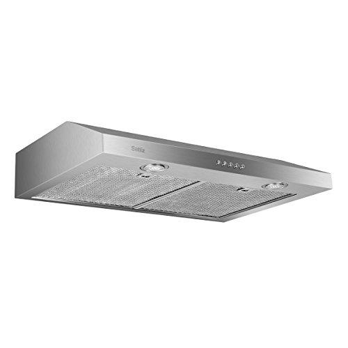 Under Cabinet Range Hood, Sattiz 30″ 350CFM Stainless Steel Wall-Mounted Kitchen Range Hoo ...