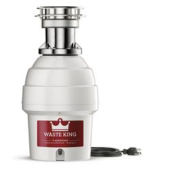Waste King Legend Series 3/4 HP Batch Feed Garbage Disposal with Power Cord – (9900TC)