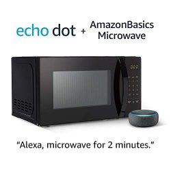 AmazonBasics Microwave with Echo Dot (3rd Gen.) – Charcoal