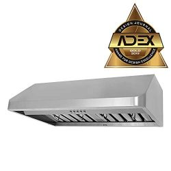 KOBE CHX9130SQB-1 Brillia 30-inch Under Cabinet Range Hood, 3-Speed, 680 CFM, LED Lights, Baffle ...