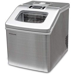 Frigidaire EFIC452-SS 40 Lbs Extra Large Clear Maker, Stainless Steel, Makes Square Ice (Renewed)