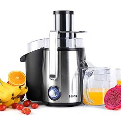 Hilax 850W Centrifugal Juicer Extractor 3″ Wide Mouth 2-SPEED LED Light Button Stainless S ...