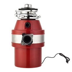 KUPPET Garbage Disposals 1 HP Household Food Waste Garbage Disposal with Power Cord for Home Kit ...