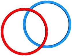 Instant Pot Accessories Silicone Sealing Rings for 5/6Qt x 2 (Red&Blue) Fits InstantPot Pres ...
