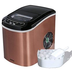 Portable Ice Maker Machine Counter Top Make 26lbs Daily Ice Cubes Ready in 6 Minutes Electric Ic ...