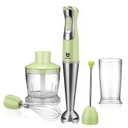 Immersion Hand Blender, Utalent 5-in-1 8-Speed Stick Blender with 500ml Food Grinder, BPA-Free,  ...