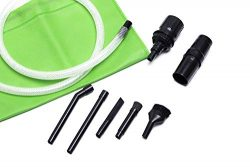 Green Label Micro Vacuum Attachment Kit – 7 Piece compatible with Most Vacuum Cleaner Hose ...