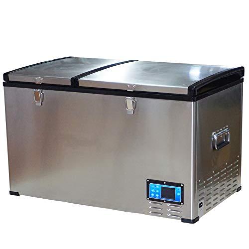 HOMCOM 12V/24V Portable Car Freezer Refrigerator Mini Fridge Cooler – 100 Liter