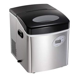 AGLUCKY Countertop Ice Maker Machine,Portable Automatic Ice Maker,Ice Cube Ready in 7mins,2.6Lb  ...