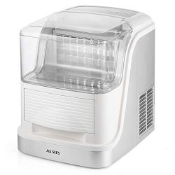 Portable Clear Ice Maker Machine, Makes Over 33 lbs of Clear Ice per Day,24 Clear Ice Cubes per  ...