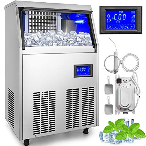 Vevor 110v Commercial Ice Maker 155lbs 24h With Water