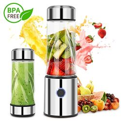 Portable Personal Smoothie Blender Mini Mixer Juicer Cup Rechargeable Electric Blender Lid Faste ...