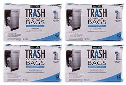 "RPS PRODUCTS BestAir Trash Compactor Bags(16"" D. x 9"" W. x 17"" H,Pack of 12) ( ..."