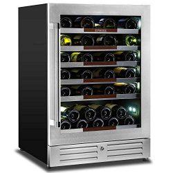 "Sipmore 24"" Wine Cooler Refrigerator 44 Various Bottle Built-in or Freestanding Single Zon ..."