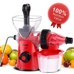 Geedel Manual Masticating Juicer, Original Slow Juicer Machine for Maximum Nutrition Value, Hand ...
