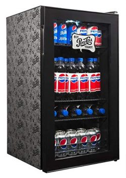 Pepsi Beverage Refrigerator Cooler with 126 Can Capacity, Mini Bar Beer Fridge with Right Hinge  ...