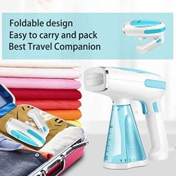 Steamer for Clothes Mini Portable 1200W Powerful Garment Steamer Clothing Handheld Fabric Steam  ...