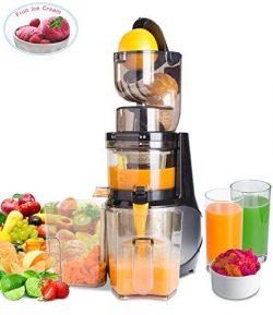 Masticating Juicer,Whole Slow Juicer Extractor by Vitalisci,Cold Press Juicer Machine,Anti-Oxida ...
