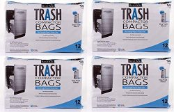 "BestAir Trash Compactor Bags(16"" D. x 9"" W. x 17"" H,pack of 12) (Set of 4)"