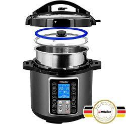 Mueller UltraPot 6Q Pressure Cooker Instant Crock 10 in 1 Pot with German ThermaV Tech, Cook 2 D ...