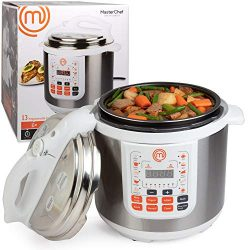 MasterChef 13-in-1 Pressure Cooker- 6 QT Electric Digital MultiPot w 13 Programmable Functions-  ...