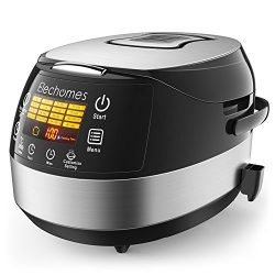 Elechomes LED Touch Control Rice Cooker, 16-in-1 Multi-function Cooker, 10-Cups Uncooked Warmer  ...