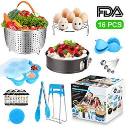 Pressure Cooker Accessories Set for Instant Pot 6, 8 Qt, AHNR 16PCS Cooking Accessories Includin ...