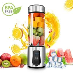 Personal Smoothie Blender,DOUHE Rechargeable Portable Blender Small Blender Mini USB Juicer Mixe ...