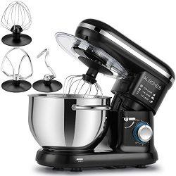 ALBOHES Stand Mixer, 600W 6 Quart 6-Speed Tilt-Head Dough Mixer, Electric Kitchen Mixers Food Mi ...