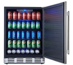 Kalamera 24″ Stainless Steel Beverage Cooler – Soda and Beer Refrigerator – Dr ...