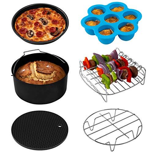 COSORI Air Fryer Accessories XL (C158-6AC), Set of 6 Fit all 5.3Qt, 5.8Qt, 6Qt Air Fryer, FDA Ap ...
