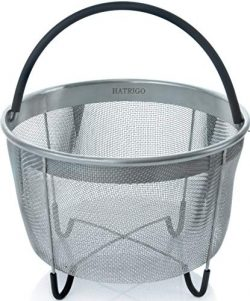 Hatrigo Steamer Basket for Pressure Cooker Accessories 6qt [3qt 8qt Avail] Compatible with Ninja ...