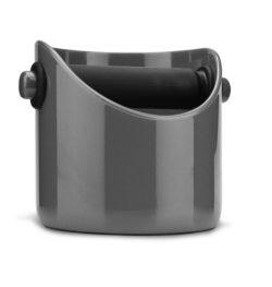 Dreamfarm Grindenstein – Coffee Grind Knock Box and Espresso Dump Bin (Silver)