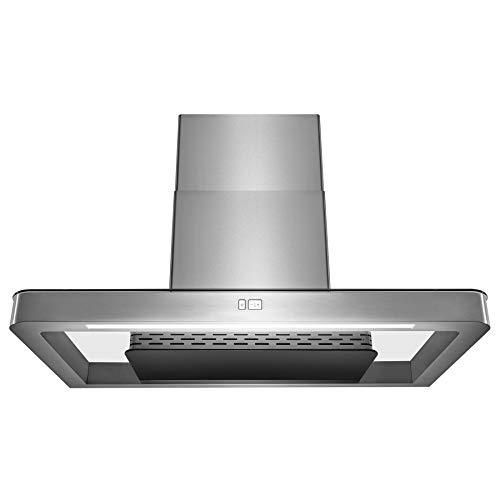 AKDY Wall Mount Range Hood 36″ Stainless-Steel Hood Fan for Kitchen 3-Speed Professional Q ...