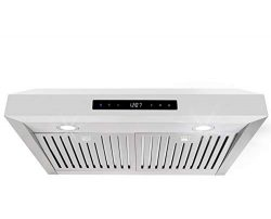 Cosmo UMC30 30-in Under-Cabinet Range-Hood 760-CFM Ductless Convertible Duct, Wireless Kitchen S ...